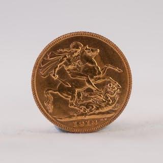GEORGE V GOLD SOVEREIGN 1918 (EF)
