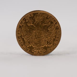 AUSTRIAN 1915 ONE DUCAT GOLD COIN, 3.4gms (F)