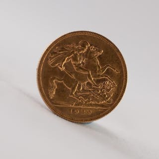 GEORGE V GOLD SOVEREIGN 1929 (VF)