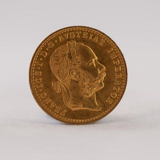 AUSTRIAN 1915 ONE DUCAT GOLD COIN, 3.5gms (EF)