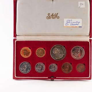 SET OF SOUTH AFRICAN COMMEMORATIVE GOLD, SILVER AND COPPER C...