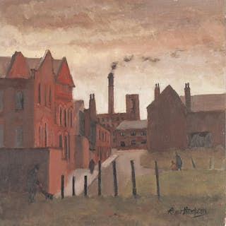 ROGER HAMPSON (1925 - 1996) OIL PAINTING ON BOARD 'Noble Str...