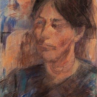DAVID WILD (1931 - 2014) PASTEL DRAWING Bust portrait of a l...