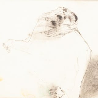 ATTRIBUTED TO FRANCIS BACON (1909-1992) PEN AND GREY INK DRA...