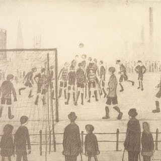 L.S. LOWRY (1887 - 1976) LIMITED EDITION PRINT OF A PENCIL D...