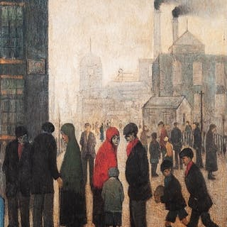 L.S. LOWRY (1887 - 1976) LIMITED EDITION COLOUR PRINT 'Salfo...