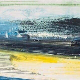 KENNETH LAWSON (1920 - 2008) ACRYLIC ON PAPER 'Headland II' ...