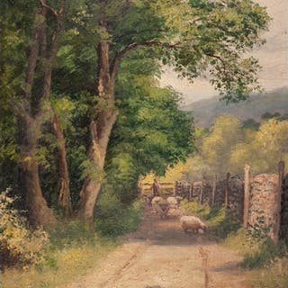 A GREENWOOD (Early 20th Century) OIL PAINTING ON BOARD Count...