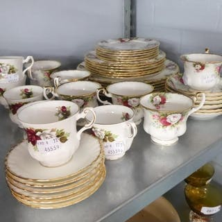 ROYAL ALBERT 'CELEBRATION' DINNER AND TEA SERVICES FOR SIX P...