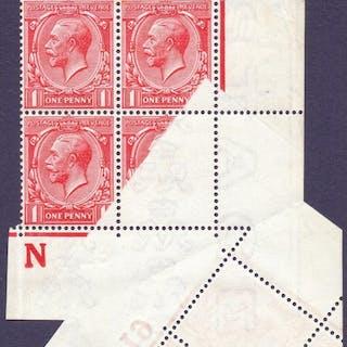STAMPS : GREAT BRITAIN : 1912 1d Scarlet fantastic control b...