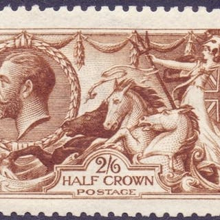STAMPS : GREAT BRITAIN : 1915 2/6 Very Deep Brown, unmounted...