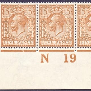 STAMPS : GREAT BRITAIN : 5d Yellow Brown, superb unmounted m...