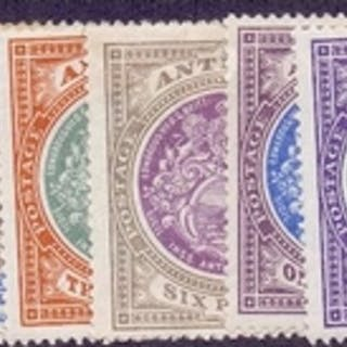 ANTIGUA STAMPS : 1903 average mounted mint set to 5/-, some ...