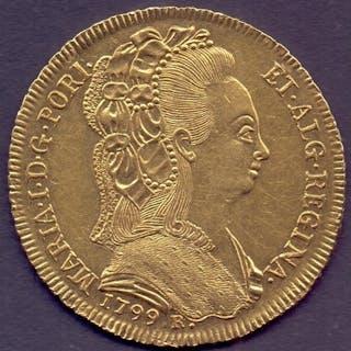 COINS : 1799 Brazil Rio de Janeiro (6400 Reis) in gold 33mm ...