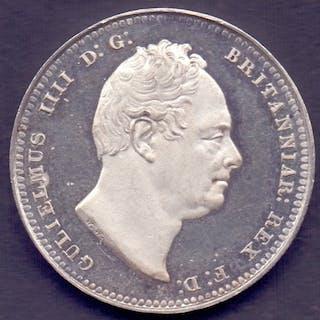 GREAT BRITAIN COINS : 1831 William VI Shilling plain edge in...