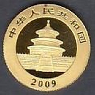 GOLD COINS : 2009 Year of The Panda solid .999 gold coin ( 2...
