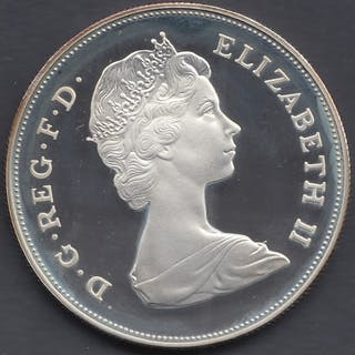 COINS : 1981 Charles and Diana SILVER crown in special displ...