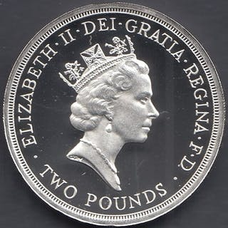 COINS : 1986 Commonwealth Games SILVER £2 coin in special di...
