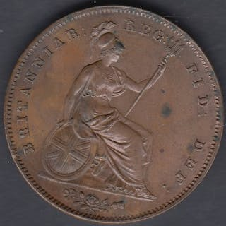COINS 1841 British Penny in EF condition, colon after DEF