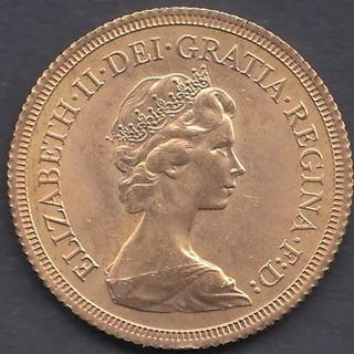 GOLD COIN : 1979 Full Sovereign in fine condition