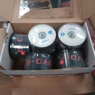 A box of DVD-R packs.(256).