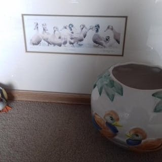 A Limited Edition print of Mallard ducks, signed and titled ...
