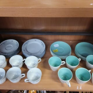 A small selection of Poole Pottery tea ware together with We...