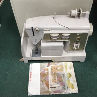 A Singer sewing machine.