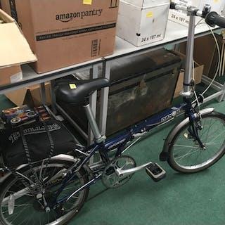 A Dahon folding bike.