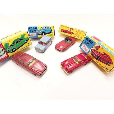 Four Corgi models - 226 Morris Mini Minor and 310 Chevrolet ...
