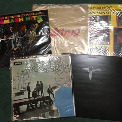 Approximately 100 vinyl records to include Jimi Hendrix, Bob...