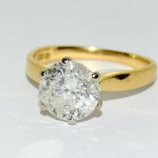 An 18ct gold ladies Diamond Solitaire ring approx. 2.5ct, Si...