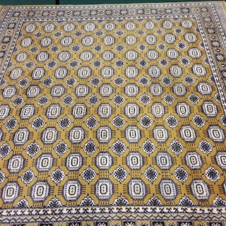 Oriental wool hand made rug room size 315x305cm, mustard yel...