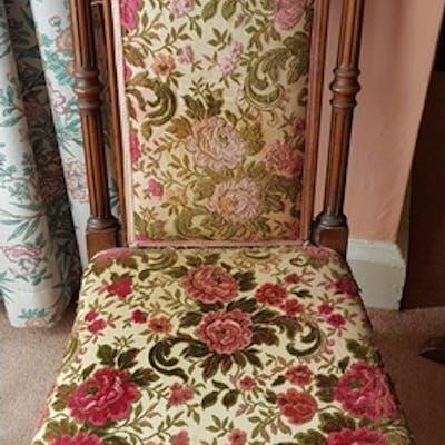 A 19th Century Mahogany Showframe high backed Chair.