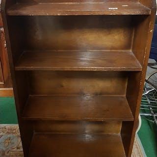 An early 20th Century Oak open Shelves. H100cm X D19cm X W60...