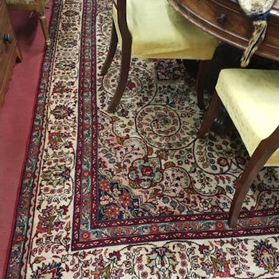 A really good Tabriz Rug with all over decoration and multi ...