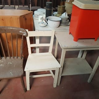 A quantity of Late 19th Early 20th Century Kitchen Furniture...