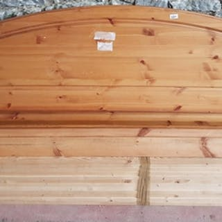 A Pine Double Bed.