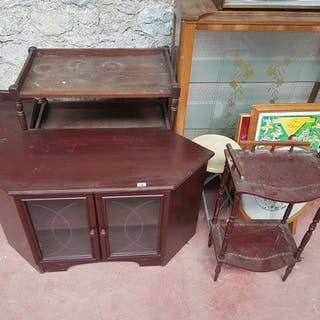 A quantity of Modern and Vintage furniture.