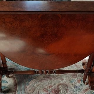 A fantastic 19th Century Burr Walnut Sutherland Table with a...