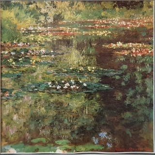 After Claude Monet. Three Coloured Prints of Lily Ponds.