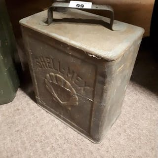 Early 20th C. Shell Mex BP advertising petrol can.