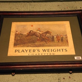 Rare Player's Weights Cigarettes advertisement. { 63cm H X...