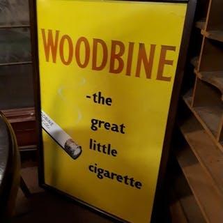 Woodbine - The Great Little Cigarette pictorial enamel adver...