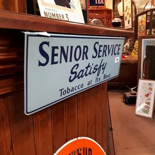 Unusual Senior Service - Satisfy At Its Best tin plate adver...