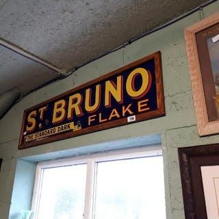 St Bruno Standard Dark Flake enamel advertising sign {32 cm ...