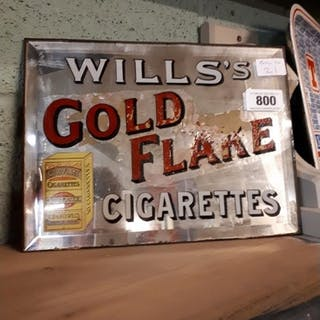 Will's Gold Flake pictorial advertising mirror. {28cm H X 31...