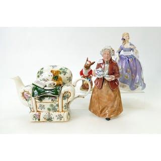 Royal Doulton Figures: Nicola HN2839, Teatime HN2255, togeth