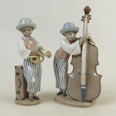 Lladro Jazz Band Figures: Lladro figures titled 'Jazz Horn' ...