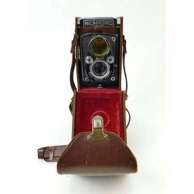 Microcord TLR Camera: Microcord TLR Cased Camera.